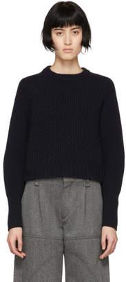 Chloé Navy Cashmere Chunky Sweater