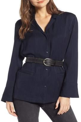 Treasure & Bond Tonal Stripe Pajama Shirt