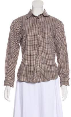 Aquascutum London Long Sleeve Button-Up Top