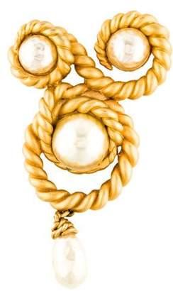 Chanel Faux Pearl Vintage Brooch