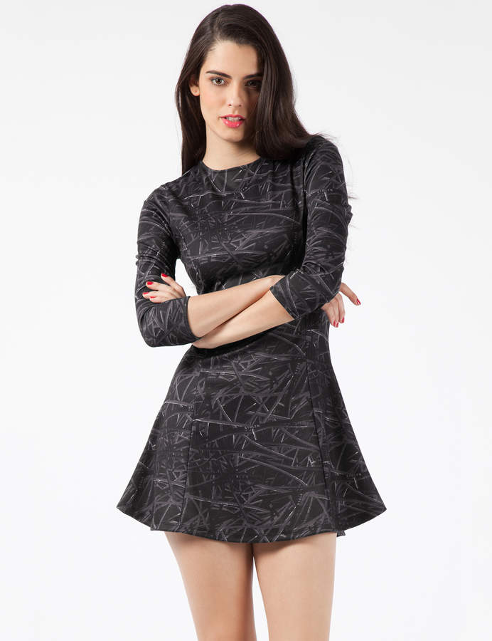 Stolen Girlfriends Club Black Totally Wired Form Dress