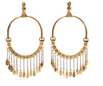 Chloé Quinn Oversized Gold-tone Clip Earrings - one size