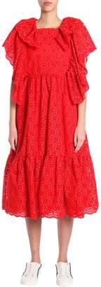 MSGM Sangallo Lace Long Dress