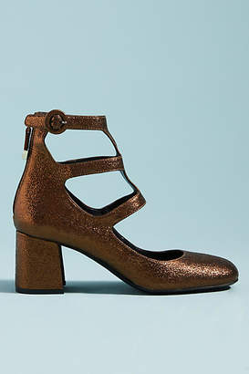 Bruno Premi Metallic Leather Heels