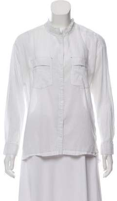 Zadig & Voltaire Lace Trim Button-Up Blouse