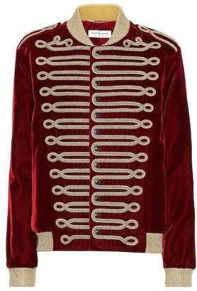 Saint Laurent Embroidered velvet jacket