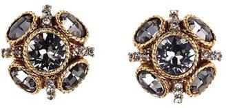 Women's Oscar De La Renta 'Classic Button' Stud Earrings $110 thestylecure.com