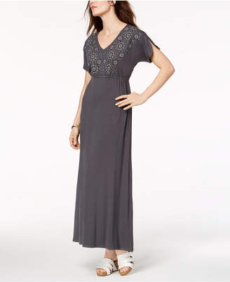 Style&Co. Style & Co Embroidered Maxi Dress, Created for Macy's