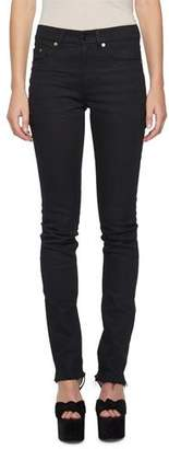 Saint Laurent Raw-Edge Slash-Back Skinny Jeans