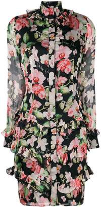 Philipp Plein floral print short dress