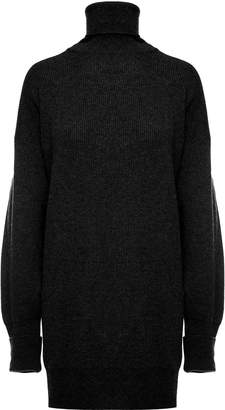 Maison Margiela Oversized Elbow-patch Wool Roll-neck Sweater
