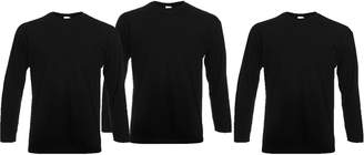 Fruit of the Loom RyteApparel Mens 3 Pack Fullleeve Valueweight T Shirt