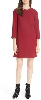 Kate Spade grommet trim shift dress