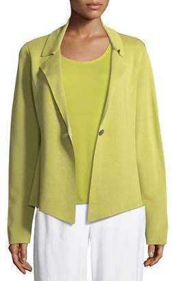 Eileen Fisher Silk-Blend Interlock Short Jacket