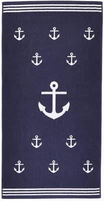 Arus Anchor Terry Turkish Cotton Beach Towel