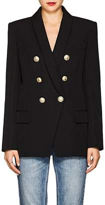 Balmain Women's Wool Canvas Double-Breasted Blazer