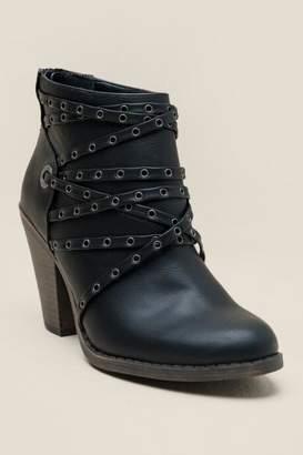 Fergalicious Windy Strappy Ankle Boot - Black