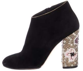Dolce & Gabbana Suede Round-Toe Ankle Boots