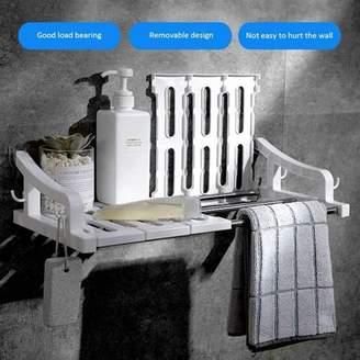cottcuboaba Plastic Wall Mounted Bathroom Shelf [ No Drilling ] Corner Shelf Durable Kitchen Shelf