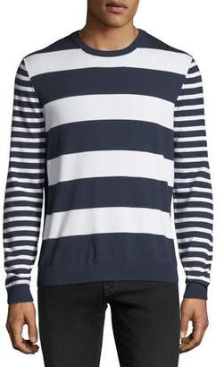 Michael Kors Mixed Striped Cotton Sweater