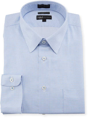 Neiman Marcus Classic-Fit Non-Iron Check Dress Shirt