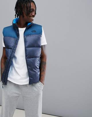 The North Face Nuptse3 Down Vest in 2 Tone Navy