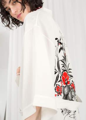 Embroidered Belted Kimono Jacket