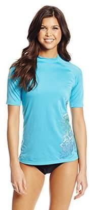 Kanu Surf Women's UPF 50+ Short Sleeve Active Rashguard and Workout Top III