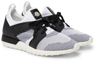 Moncler Emilien Leather and Rubber-Trimmed Mesh Sneakers - White