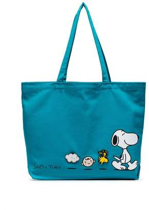 Pintrill Turquoise Snoopy Friends March Tote by Friends With You