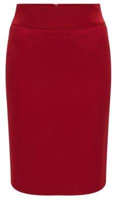 Hugo Boss Visala Crepe Pencil Skirt 6 Red $295 thestylecure.com