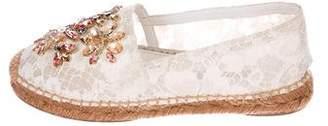 Dolce & Gabbana Embellished Lace Espadrille