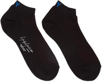 Yohji Yamamoto Black Logo Socks $80 thestylecure.com