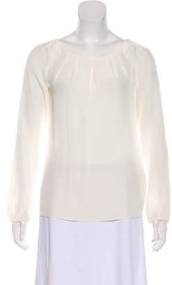 LK Bennett Silk Long Sleeve Top