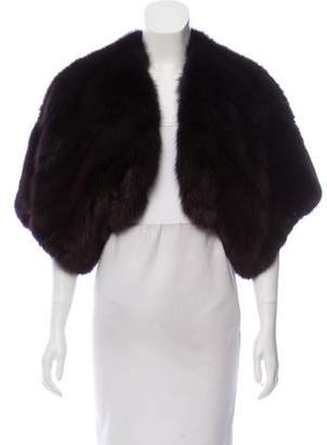 Oscar de la Renta Sable Fur Short Sleeve Bolero w/ Tags