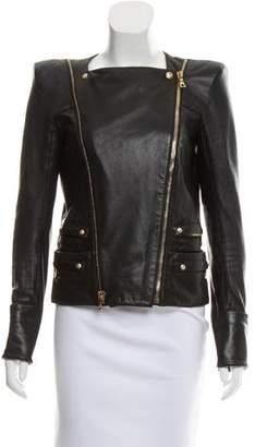 Balmain Shearling Moto Jacket