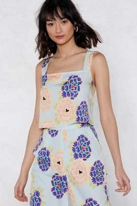 Nasty Gal The Flower of Love Floral Cami Top