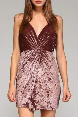 Minuet Velvet Wrap Dress