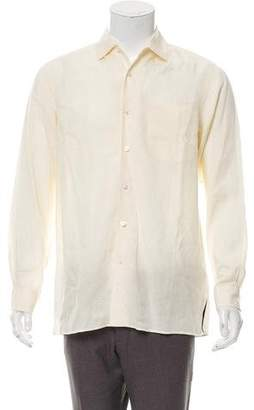 Ralph Lauren Purple Label Linen Button-Up Shirt