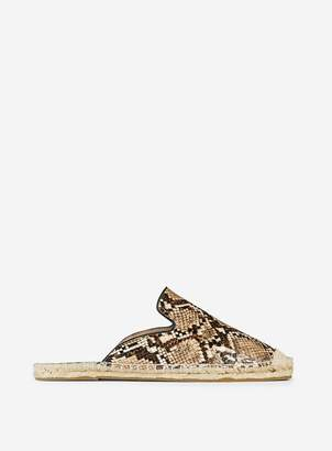 Dorothy Perkins Womens Wide Fit Snake Print 'Chicago' Espadrille Sandals
