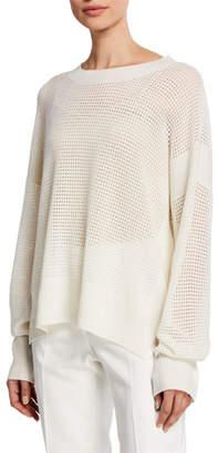 Agnona Cashmere Net-Stitch Yarn Sweater