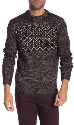 Scotch & Soda Patterned Metallic Crew Neck Sweater