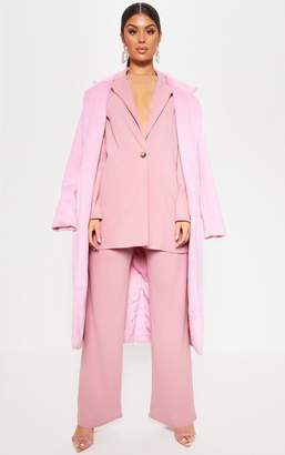 PrettyLittleThing Pink Wide Leg Suit Trouser