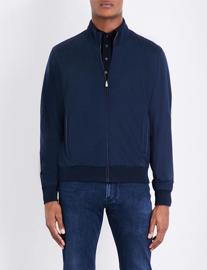 CornelianiCorneliani Wool bomber jacket