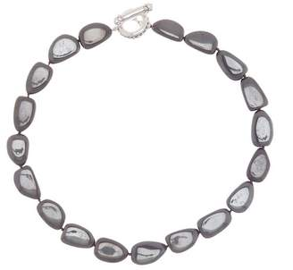 Simon Sebbag Sterling Silver Hematite Beaded Necklace