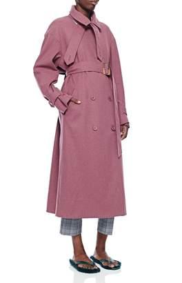 Tibi Bonded Lightweight Wool Trench