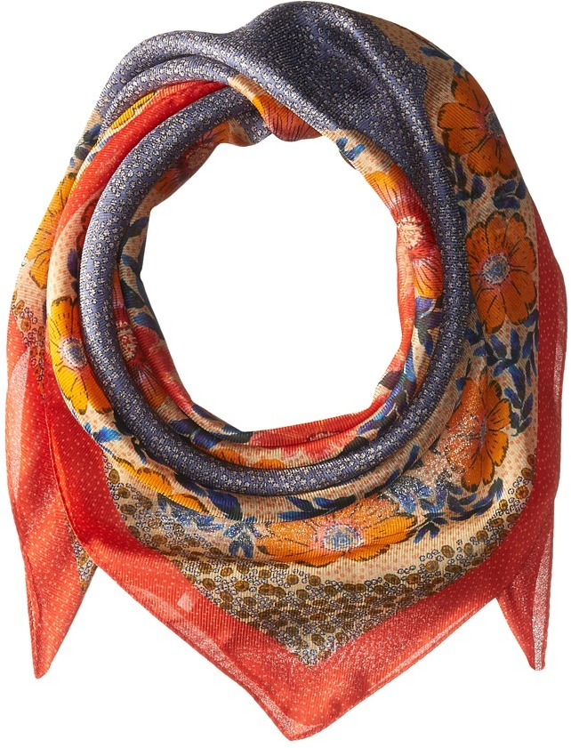 Echo Design - Le Jardin Silk Square Scarf Scarves