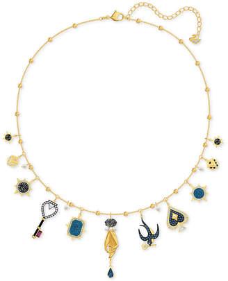 "Swarovski Gold-Tone Crystal Tarot-Inspired Choker Necklace, 12' + 2"" extender"