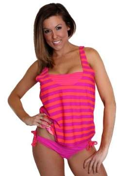 Hurley Surfside Stripe Tankini Top