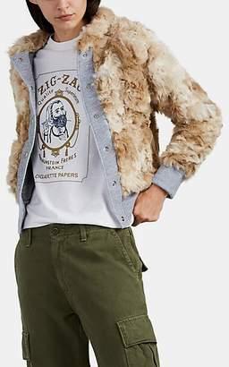 NSF Women's Aaron Faux-Fur Bomber Jacket - Brown